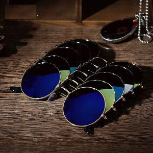 OCULOS  Retro vintage rodada espelhado óculos de sol óculos esportes ao ar livre óculos para mulheres dos homens FRETE GRATIS