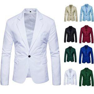 TERNO BLEZER Europeu americano marca de moda masculina blazer casual slim fit paletó masculino blazers mens casaco vestido de casamento 8 cores FRETE GRATIS