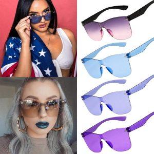 OCULOS nova moda óculos de sol senhora mágica hexágono doces cor óculos de sol unisex gradiente tons uv400 FRETE GRATIS