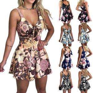MACACÃO Verão Mulheres Tiras No Peito Gravata borboleta Solto Romper Vestido Macacão Shorts Fora Do Ombro Magro Beleza Vestido de Praia FRETE GRATIS