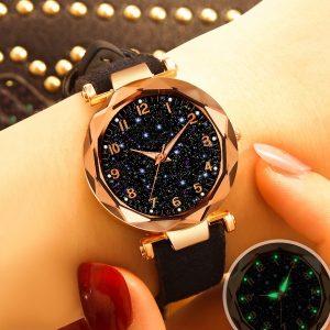 RELOGIO Moda 10 cores tendência céu estrelado relógio ímã ímã pedra Milão senhoras relógio moda tabela luminosa FRETE GRATIS