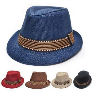 CHAPEU Novo bebê crianças menino menina chapéu de jazz chapéu respirável verão praia palha chapéu de sol para 2-5 anos de idade FRETE GRATIS