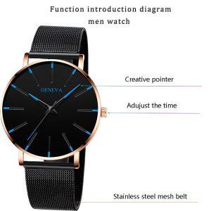 RELOGIO Moda Mens Relógios de Aço Inoxidável Ultra Fino Simples Relógio de Pulso de Quartzo Negócios de Luxo Homens Relógios Esportivos Uhren Herren FRETE GRATIS