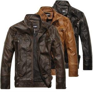 JAQUETA  Jaquetas de couro da motocicleta dos homens marca outono inverno jaqueta de couro velo jaqueta de couro masculina FRETE GRATIS