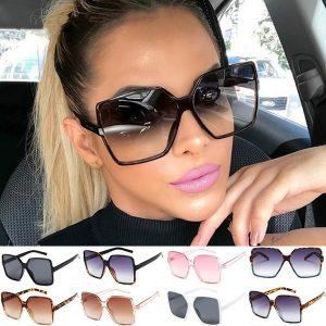 OCULOS  Mulheres da moda óculos de sol de grandes dimensões vintage feminino óculos uv400 oculos de sol homem ao ar livre esporte óculos de sol FRETE GRATIS