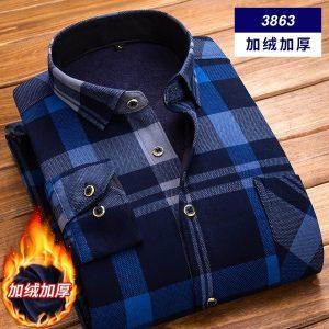 CAMISA 12 cores outono e inverno camisa de mangas compridas dos homens quente camisa xadrez ocasional camada de impressão dos homens tamanho grande FRETE GRATIS
