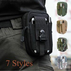 CARTUCHEIRA Mini saco de cintura dos homens acessórios cinto fanny pack cintura bolsa mochila saco tático FRETE GRATIS