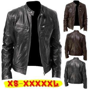 JAQUETA  homens casuais jaquetas de couro piloto da motocicleta casaco homens outono moda gola jaqueta de couro falso casacos blouson moto homme FRETE GRATIS