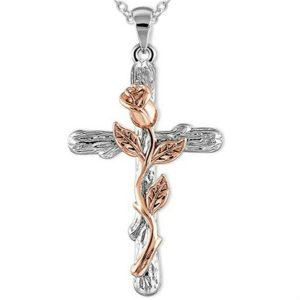 COLAR 4 cores naturais flor planta pingente de cruz colar de corrente de presente de jóias para mulheres FRETE GRATIS