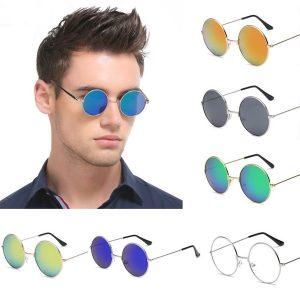 OCULOS 1 Pc Unisex Retro Lens Round Sunglasses Retro Eyeglasses Glasses for Men Women FRETE GRATIS