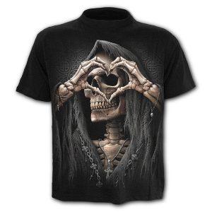 CAMISETA  Mens Camisa Engraçada Crânio Corações 3D Impresso Camisetas Camisetas de Manga Curta FRETE GRATIS