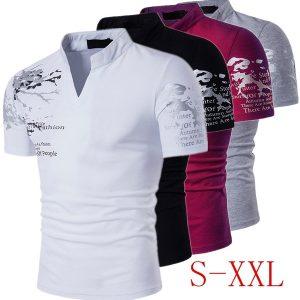 CAMISETA Mens T-shirt de manga curta T-shirt dos homens Polo Sports Tshirt Com decote em V T-shirt de verão FRETE GRATIS