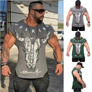 CAMISETA Irmãos de fitness muscular verão novo algodão em torno do pescoço t-shirt t-shirt de fitness homens ginásio t-shirt de manga curta FRETE GRATIS