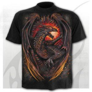 CAMISETA Homem moda moderna camiseta gótica com um dragão de fogo verão 3d impressora tee FRETE  GRATIS