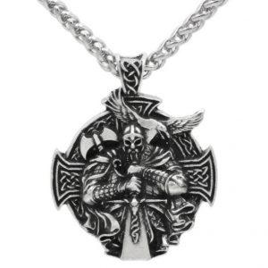 COLAR Moda punk homens viking odin lobo e corvo com bússola colar de pingente de dupla face jóias FRETE GRATIS