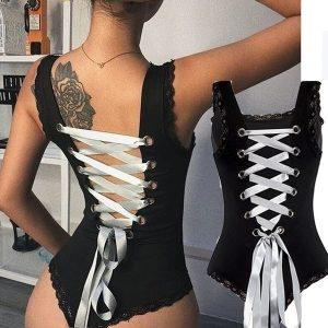 BORIS A costura de renda das mulheres novas tecida sem encosto cruza tiras de roupa interior das mulheres FRETE GRATIS