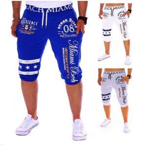 BERMUDA Novas calças masculinas casuais cordão cintura elástica moda impressão carta esportes soltos FRETE GRATIS