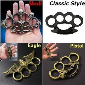 SOCO INGLES DEFESA Novo Criativo Crânio ou Escorpião ou Dragão Em Forma de Anéis de Defesa Ao Ar Livre Metal Knuckle Equipamento de Autodefesa ferramenta brinquedo 7 Tamanho Opcional FRETE GRATIS