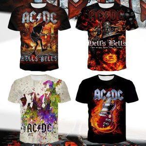 CAMISETA Novos detalhes sobre o padrão ACDC Black Classic Men Fashion T-Shirt FRETE GRATIS