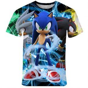 CAMISETA Novidade crianças camiseta 3D Novo Sonic The Hedgehog Verão Estilo Personalidade de Manga Curta Camiseta para crianças FRETE GRATIS