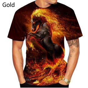 CAMISETA Homens e mulheres 3D Camiseta Cavalos / unicórnios Impresso Camiseta Unisex Moda Casual Pullover top tee XS-5XL FRETE GRATIS