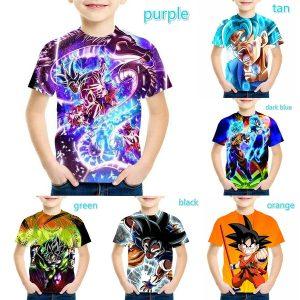 CAMISETA Nova Dragon Ball Camiseta Moda Crianças 3D Impressão Dos Desenhos Animados Camisetas para Crianças Legal Meninos T Meninas Camisetas FRETE GRATIS