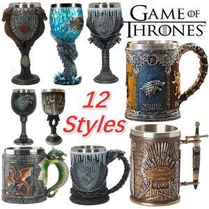 CANECA 12 Estilos Game of Thrones Sete Reinos Caneca de Cerveja Caneca de Cerveja Mark Cup Taças FRETE GRTIS