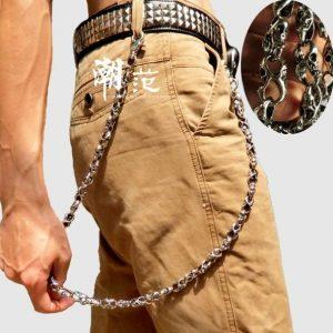 CORRENTE Cadeia de calças de punk de caveira masculina com corrente de cintura FRETE GRATIS