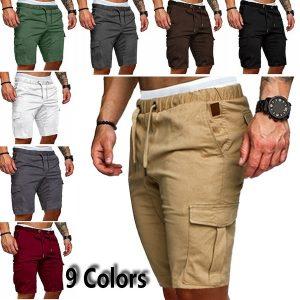BERMUDA Shorts com cordão Macacões de verão para homens Calções de rua Shorts de carga Macacões para homens Shorts táticos (6 cores) FRETE GRTIS