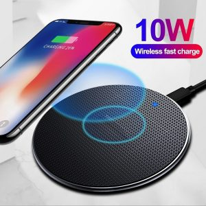 TABLET 10W Qi Wireless Charger for Samsung Galaxy S10 S9 S9 S8 Note 9 USB Fast Charging Pad for IPhone 11 Pro XS Max XR X 8 Plus FRETE GRATIS