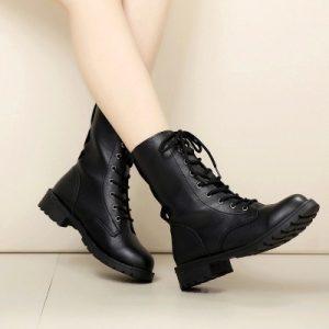 BOTA Moda Novas Mulheres Botas Sapatos Ankle Boot Casual Botas de Combate Militar Lace Up Cowboy Vestido Sapatos Www.DUGEZZU.Com.Br ANTECIPE SUAS COMPRAS DEMORA ALGUNS DIAS PRA VOCE RECEBER FIQUE A VONTADE E BOAS COMPRAS …FRETE GRATIS