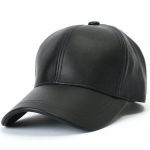 BONE Mulheres homens unisex preto pu couro boné de beisebol chapéu FRETE GRATIS
