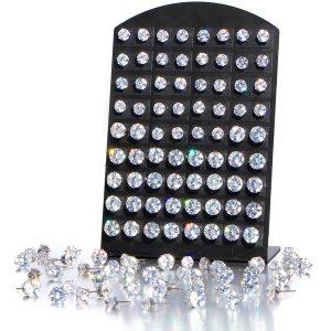 BRINCO  Moda feminina Luxo Cubic Requintado Big Zircon Cristal Diamante Brincos Set Cirúrgicos Brincos de Prata Esterlina Brincos Conjunto de Jóias de Casamento para Sensitive Www.DUGEZZU.Com.Br ANTECIPE SUAS COMPRAS DEMORA ALGUNS DIAS PRA VOCE RECEBER FIQUE A VONTADE E BOAS COMPRAS …FRETE GRATIS