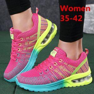 TENIS Moda feminina Respirável Confortável Corrida Calçados Esportivos Esportivos FRETE GRATIS