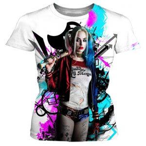CAMISETA Novo Design Personalidade Criativa Harley Quinn Impressão 3D T-shirt Unisex de Alta Qualidade Casual Mangas Curtas Www.DUGEZZU.Com.Br ANTECIPE SUAS COMPRAS DEMORA ALGUNS DIAS PRA VOCE RECEBER FIQUE A VONTADE E BOAS COMPRAS …FRETE GRATIS