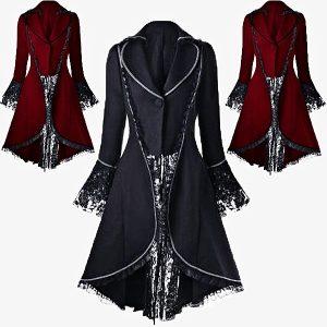VESTIDO Punk fanático feminino laço Melisandre casaco gótico vitoriano jaqueta de vampiro vestido Www.DUGEZZU.Com.Br ANTECIPE SUAS COMPRAS DEMORA ALGUNS DIAS PRA VOCE RECEBER FIQUE A VONTADE E BOAS COMPRAS …FRETE GRATIS