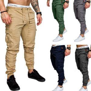 CALÇA Novas Calças dos homens de Alta Qualidade Harem Pants Calças de Jogging Calças Esportivas Calças dos homens Calças com Cordão Sólidos Ao Ar Livre Calças Casuais 4XL FRETE GRATIS
