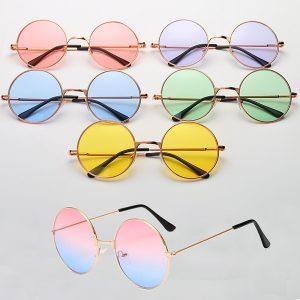 OCULOS Mulheres homens unisex vintage lentes coloridas hippie óculos  de sol retro metal redondo círculo óculos de sol Www.DUGEZZU.Com.Br ANTECIPE SUAS COMPRAS DEMORA ALGUNS DIAS PRA VOCE RECEBER FIQUE A VONTADE E BOAS COMPRAS …FRETE GRATIS