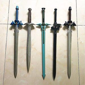 ESPADA 1: 1 Espada Legend of Zelda Link Azul Preto Cosplay PU Sword Art Online SAO O Hobbit Frodo Bolseiro Sting Sword FRETE GRATIS