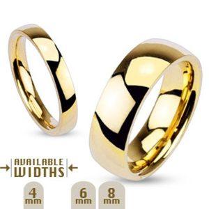 ALIANÇA CADA 4 mm – 8 mm de largura, banhado a ouro 14k, conforto clássico, ajuste da aliança de casamento, tamanho 5-14 FRETE GRATIS