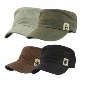 BONE Novo chapéu militar de telhado plano Cadete de patrulha de Bush Chapéu Boné de beisebol FRETE GRATIS