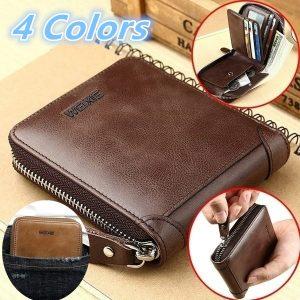CARTEIRA 4 cores homens carteiras curtas marca casual zipper bolsa de moedas carteira de titular de cartão masculino FRETE GRATIS