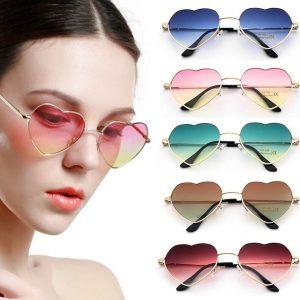 OCULOS Vintage Unisex Moda Feminina Coração Óculos de Sol Reflexivo Colorido Lente Óculos de Sol Óculos de Metal Óculos Www.DUGEZZU.Com.Br ANTECIPE SUAS COMPRAS DEMORA ALGUNS DIAS PRA VOCE RECEBER FIQUE A VONTADE E BOAS COMPRAS …FRETE GRATIS