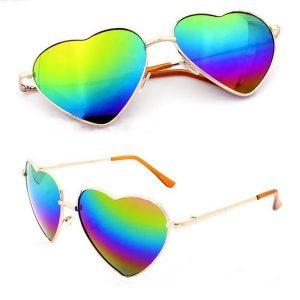 OCULOS Moda em forma de coração mulheres homens armação de metal óculos de sol anti-UV reflexivos Www.DUGEZZU.Com.Br ANTECIPE SUAS COMPRAS DEMORA ALGUNS DIAS PRA VOCE RECEBER FIQUE A VONTADE E BOAS COMPRAS …FRETE GRATIS