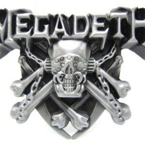 FIVELA Megadeth Crossbones Caveira Cabeça Esqueleto Corrente de ferro Fivela de cinto Punk Rock Gótico Www.DUGEZZU.Com.Br ANTECIPE SUAS COMPRAS DEMORA ALGUNS DIAS PRA VOCE RECEBER FIQUE A VONTADE E BOAS COMPRAS …FRETE GRATIS