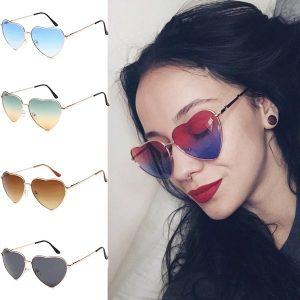 OCULOS Nova personalidade em forma de coração óculos de sol moda lente marinha óculos de luxo gradiente de cor de metal óculos de armação Www.DUGEZZU.Com.Br ANTECIPE SUAS COMPRAS DEMORA ALGUNS DIAS PRA VOCE RECEBER FIQUE A VONTADE E BOAS COMPRAS …FRETE GRATIS