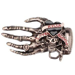FIVELA Moda Crânio Fivela de Cinto de Mão para Homens Esqueleto Osso de Mão Punk Rock Acessórios de Couro Amor Fivelas de Cinto Cowboy Metal 3D Belt Head Www.DUGEZZU.Com.Br ANTECIPE SUAS COMPRAS DEMORA ALGUNS DIAS PRA VOCE RECEBER FIQUE A VONTADE E BOAS COMPRAS …FRETE GRATIS