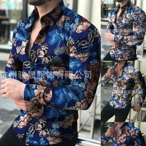 CAMISA Novos homens camisas florais de manga comprida camisas de flores botão quente até camisas para homens camisas impressas camisas casuais outono camisas ao ar livre camisa de festa para homens Www.DUGEZZU.Com.Br ANTECIPE SUAS COMPRAS DEMORA ALGUNS DIAS PRA VOCE RECEBER FIQUE A VONTADE E BOAS COMPRAS …FRETE GRATIS