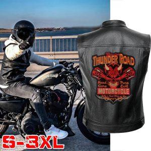 COLETE Trovão estrada homens jaquetas de motociclista colete jaqueta de couro cor sólida punk motocicleta jaqueta bordado jaqueta casacos curtos Www.DUGEZZU.Com.Br ANTECIPE SUAS COMPRAS DEMORA ALGUNS DIAS PRA VOCE RECEBER FIQUE A VONTADE E BOAS COMPRAS …FRETE GRATIS
