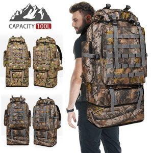 MOCHILA 100L Large Capacity Outdoor Tactical Backpack Mountaineering Camping Hiking Military Molle Water-repellent Tactical Www.DUGEZZU.Com.Br ANTECIPE SUAS COMPRAS DEMORA ALGUNS DIAS PRA VOCE RECEBER FIQUE A VONTADE E BOAS COMPRAS …FRETE GRATIS